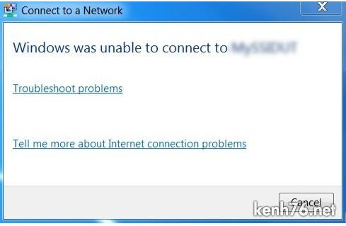 windows is unable to connect Sửa lỗi: windows was unable to connect.. khi kết nối wifi