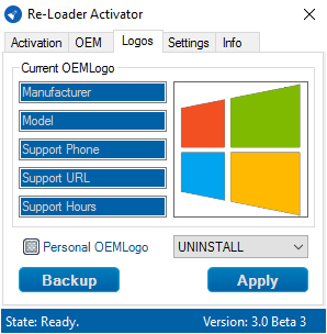 Reloader v3.0 Beta 3 - Kích hoạt Active Win 10, Win 7, Office 2016 nhanh gọn